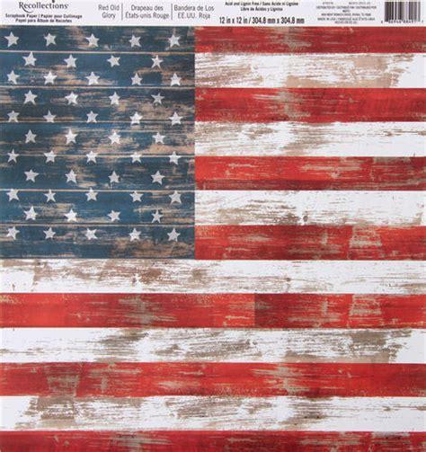 usa flag 12x12 scrapbooking paper