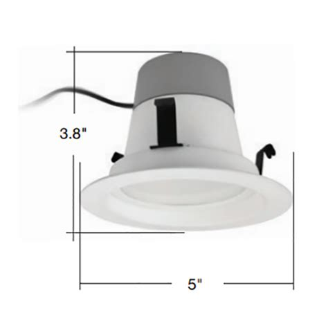 Lu Downlight 10 Watt tcp led10dr430k 10w retrofit led downlight 750 lumens