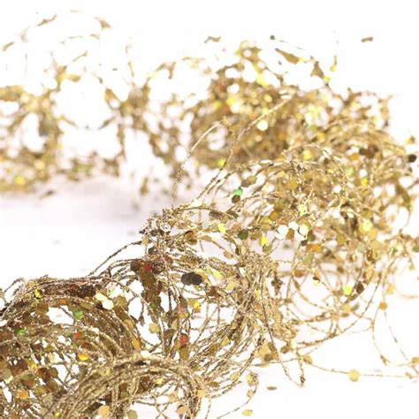 gold glitter and sequin twisted wire garland christmas