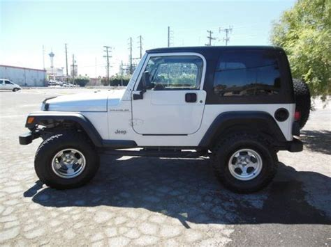 2002 jeep wrangler x for sale find used 2002 jeep wrangler x 6cy 4x4 5speed top no