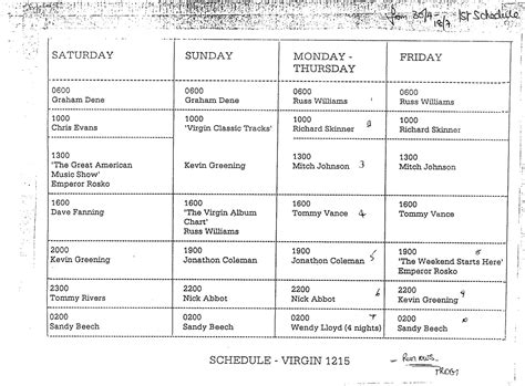 radio program schedule template march 2014 adambowie