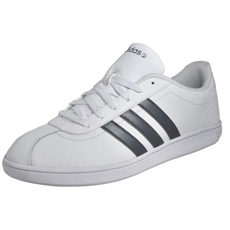 Adidas Vl Court White Leather adidas vl neo court mens classic casual retro trainers white