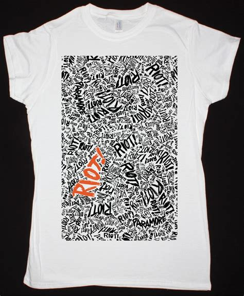 T Shirt Paramore New 04 paramore riot new white t shirt best rock t shirts