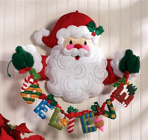 bucilla christmas believe in santa bucilla felt wall hanging kit 86189 fth international sales ltd
