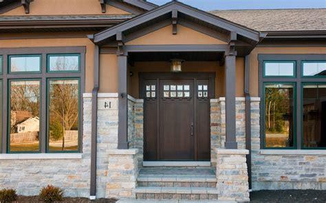 Front Door Columns Door Columns Front Entry Portico Overhang Extending Existing Roof Line Peaked Gabled Door