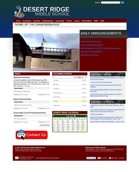 Middle School Website by Desert Ridge Middle School Website Launched