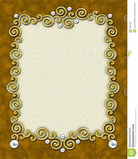elegant swirl frame royalty  stock image image