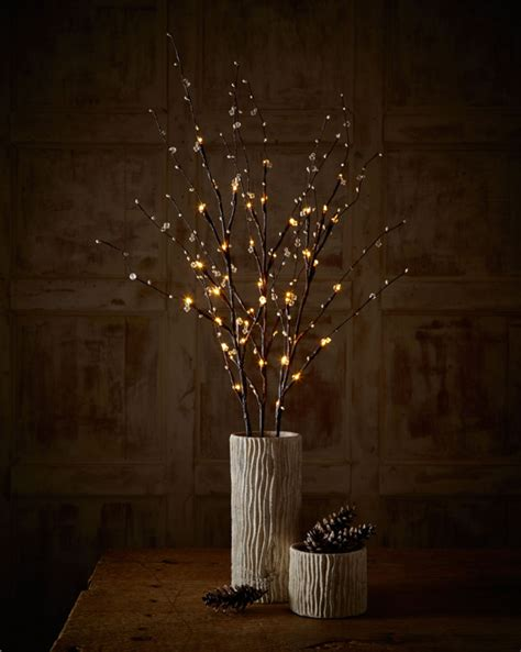 lighted twigs home decorating add autumn glow to your home with crystal lighted branches