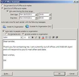 out of office reply sle myideasbedroom