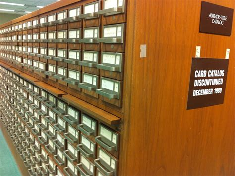 library card catalog return of the card catalog in custodia legis law