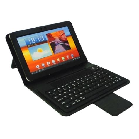 Keyboard Tablet Samsung leather cover stand wireless bluetooth keyboard for samsung galaxy tab 8 9 p7300 p7310