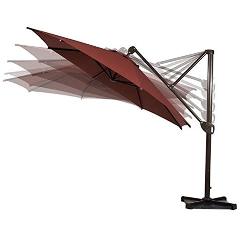 Offset Patio Umbrella With Base Abba Patio Offset Patio Umbrella 11 Hanging Cantilever Umbrella With Cross Base And