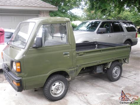 subaru mini pickup 1988 subaru sambar mini truck army green