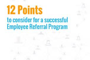 12 pointer check list for a successful employee referral