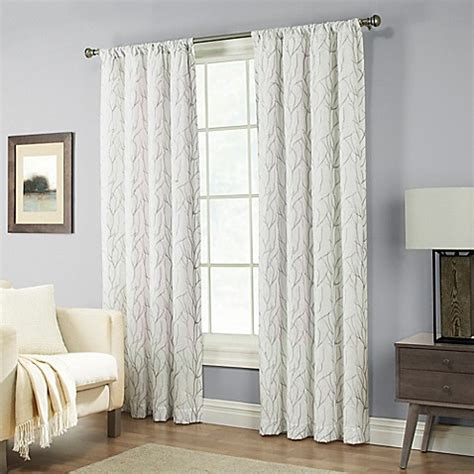 95 inch curtain rod buy pinehurst 95 inch rod pocket window curtain panel in
