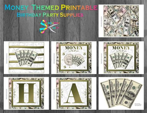 money themed decorations printable alphabet letters a z printable banner letters