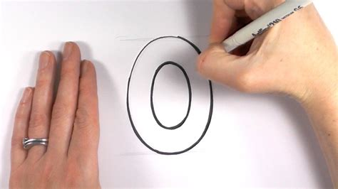 make a drawing how to draw a cartoon number zero 0 youtube