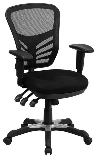 Flash Furniture Mid Back Black Mesh Computer Chair by Flash Furniture Mid Back Black Mesh Chair With