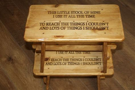 Stools All The Time by A Small Foot Stool For Children Engraved On The Top Of