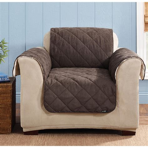 pet covers for recliners sure fit 174 reversible suede sherpa chair pet cover