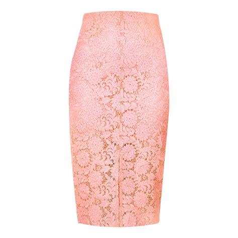 light pink pencil skirt river island light pink lace pencil skirt nudevotion com
