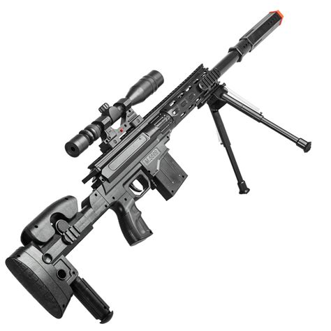 Bipod Jepit Senapan Airsoft Tactical P2668 Tactical Airsoft Sniper Rifle With Scope And