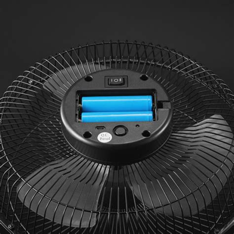 10 inch battery fan 10 inch large full black electrical rotatable usb