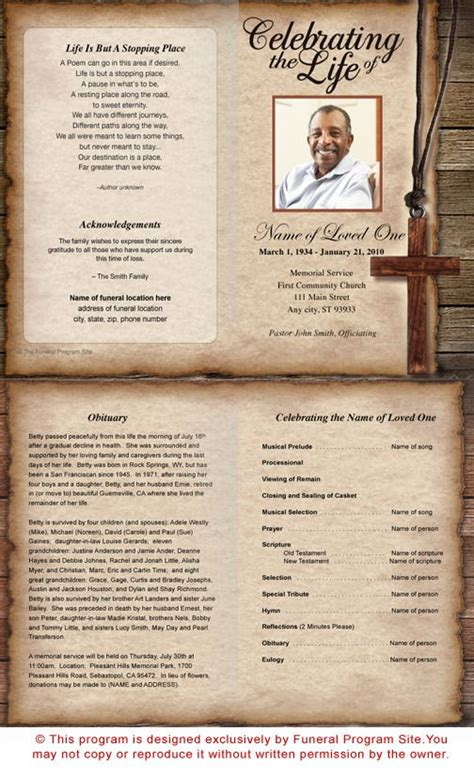 Template For Faith Based Health And Wellness Programs Collaboration 73 Best Images About Printable Funeral Program Templates