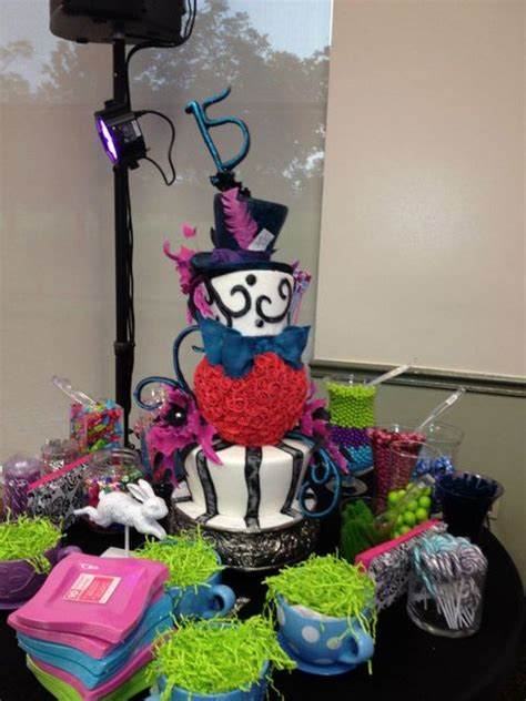 quinceanera themes alice in wonderland mad hatter alice in wonderland quincea 241 era party ideas