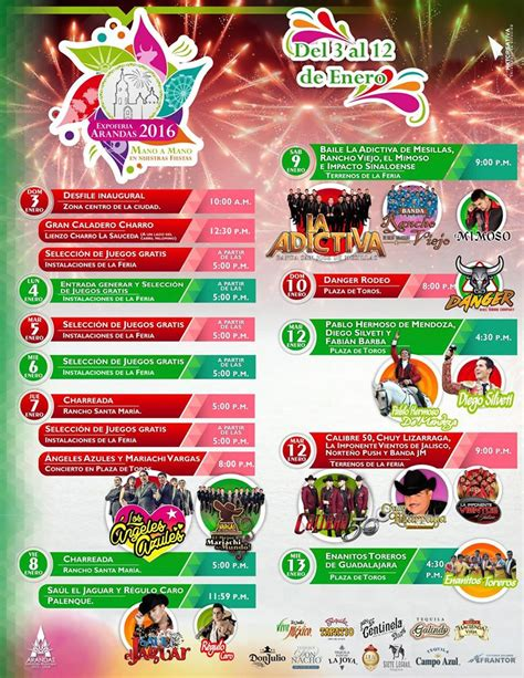 Calendario Xmatkuil 2017 Expo Feria Arandas 2016 191 D 243 Nde Hay Feria