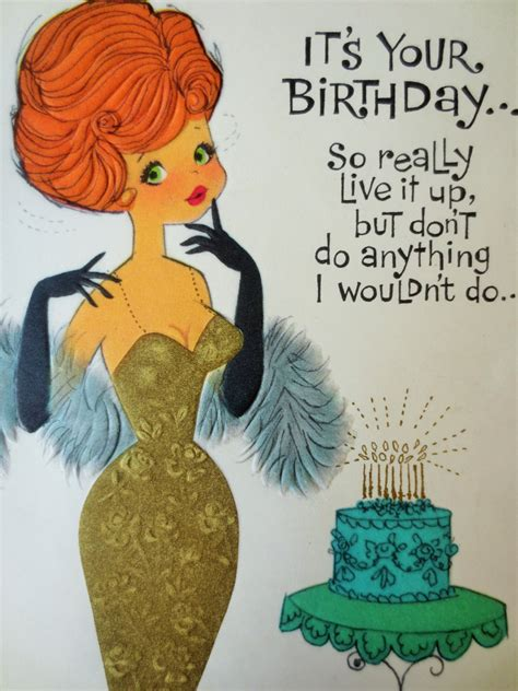 Images Vintage Birthday Cards Vintage Greeting Card Birthday Card Bombshell Woman