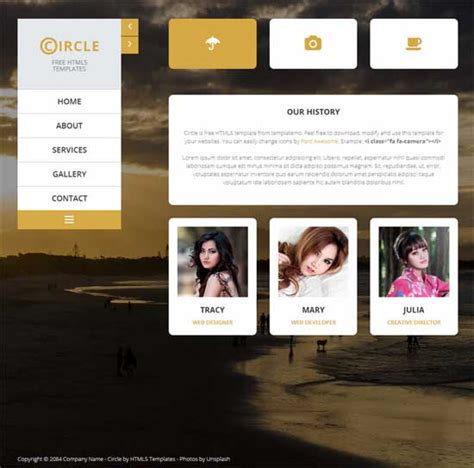 html5 free portfolio template 250 free responsive html5 css3 website templates
