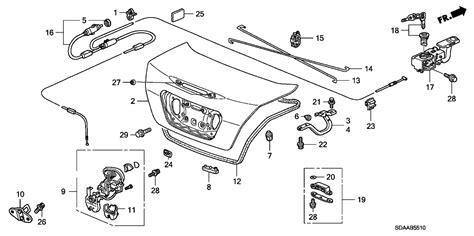 2007 Honda Accord Parts Diagram 2007 honda accord 4 door se ka 5at trunk lid