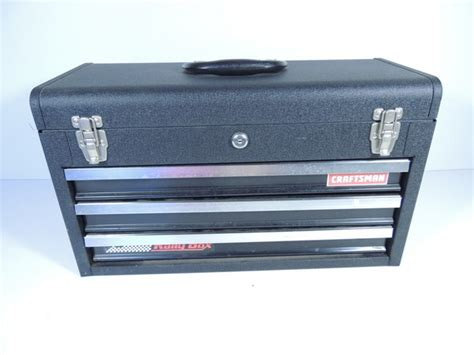 Craftsman 2 Drawer Tool Box by Sears Craftsman Rally Tool Box Chest Black 3 Drawers Lid