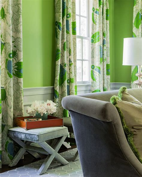 what color curtains go with green walls dining room with apple green walls and beautiful curtains