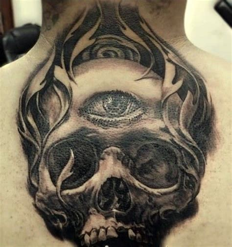 eye tattoo with skull eye in center of skull tattoo on back tattooimages biz