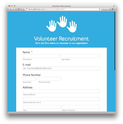 templates for recruitment website 20 amazing looking free form templates