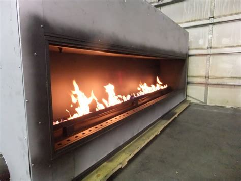 linear fireplace gas custom linear propane fireplace with 120 inch viewing area