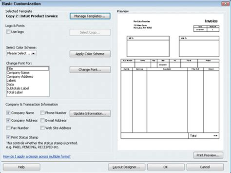 layout design in quickbooks how to create a customized invoice form in quickbooks 2010