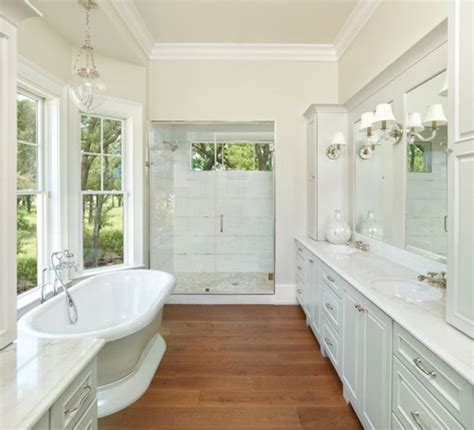 Wood Floors In The Bathroom by 15 Wood Bathroom Floors That Wow