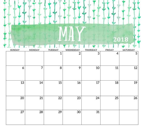 printable calendar 2018 design may 2018 printable calendar template max calendars