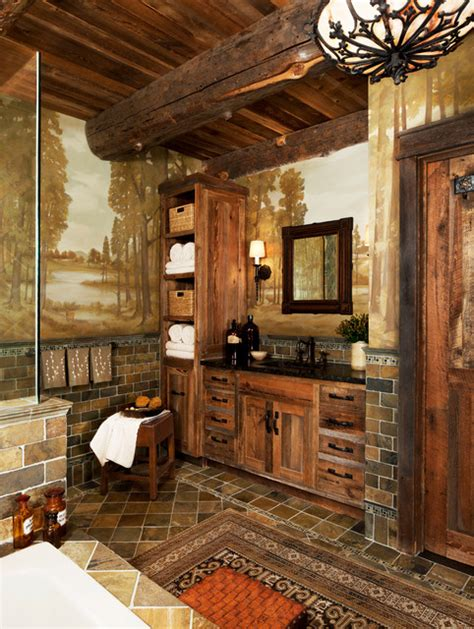 bathroom in the woods cabin in the woods rustic bathroom detroit by jennifer taylor studio