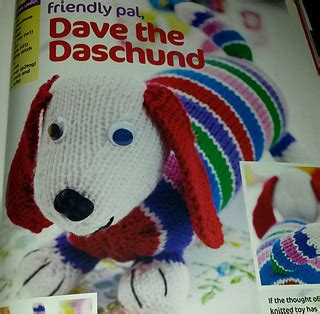 dave the stash busting dachshund knit flat in the ravelry dave the stash busting dachshund pattern by