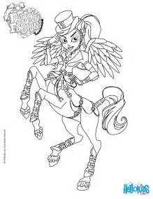 MONSTER HIGH Coloring Pages  Monster High Freaky Fusion Avea sketch template
