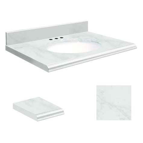 37 bathroom vanity top shop transolid white natural marble undermount single sink