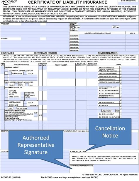 acord cancellation form simply easier acord forms acord 25 cancellation notice