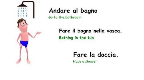 fare in doccia daily routine how to describe your typical day in italian