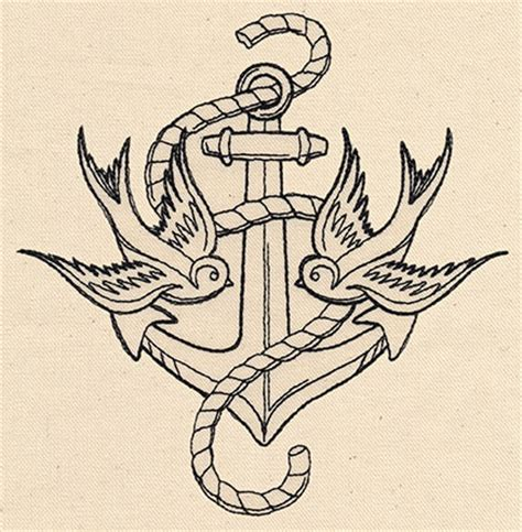 swallow and anchor tattoo designs thread tattoos anchor and swallows threads