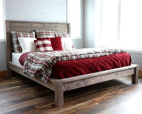 farmhouse bed plans ana white modern farmhouse bed diy projects