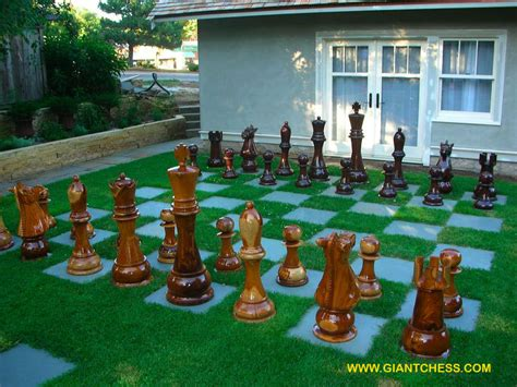 outdoor wooden garden chess perfect for gardens parties